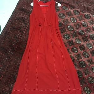 Madewell Red Maxi Dress